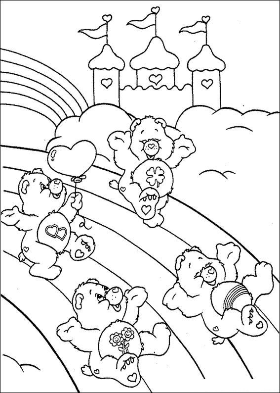 Kidsnfuncom  63 coloring pages of Care Bears