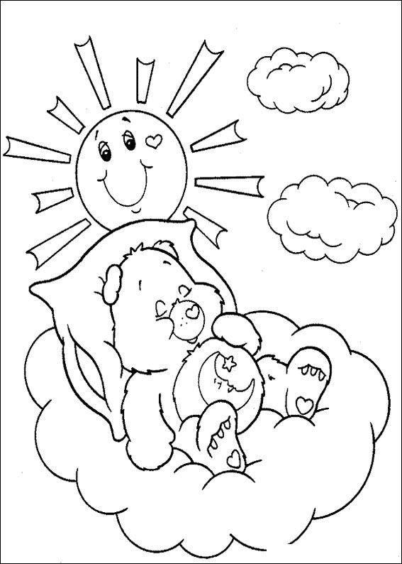 Kids-n-fun.com | 63 coloring pages of Care Bears