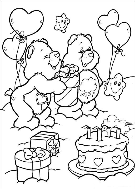 The Care Bears coloring picture | 794x567