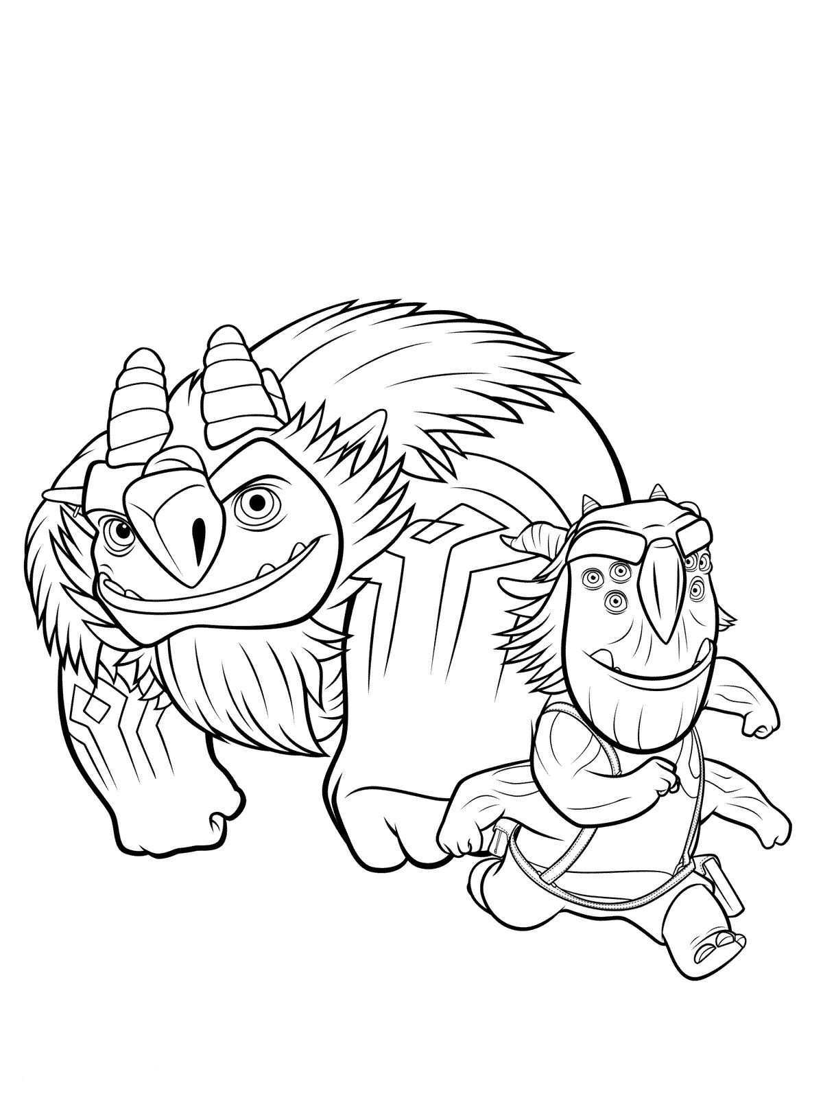 n 10 coloring pages of trollhunters