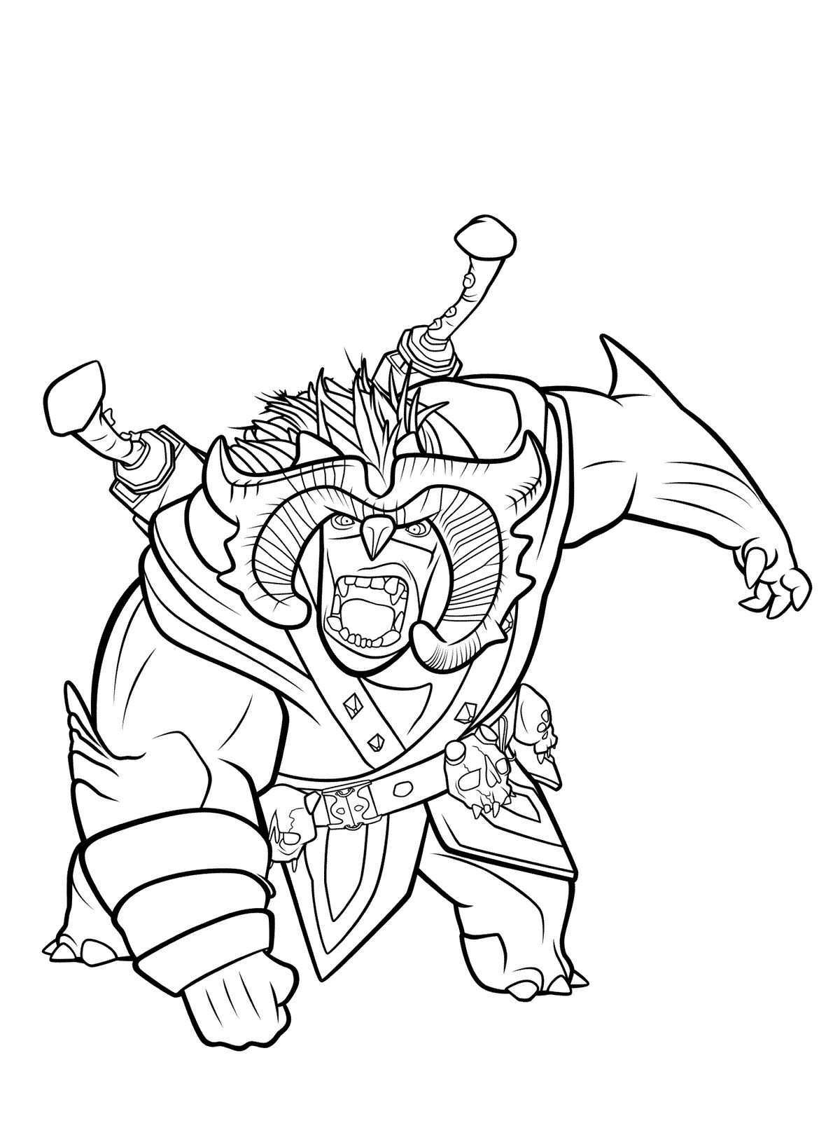 Kids-n-fun.com | 10 coloring pages of Trollhunters A Coloring Page