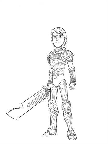 Kids N Fun Com 10 Coloring Pages Of Trollhunters