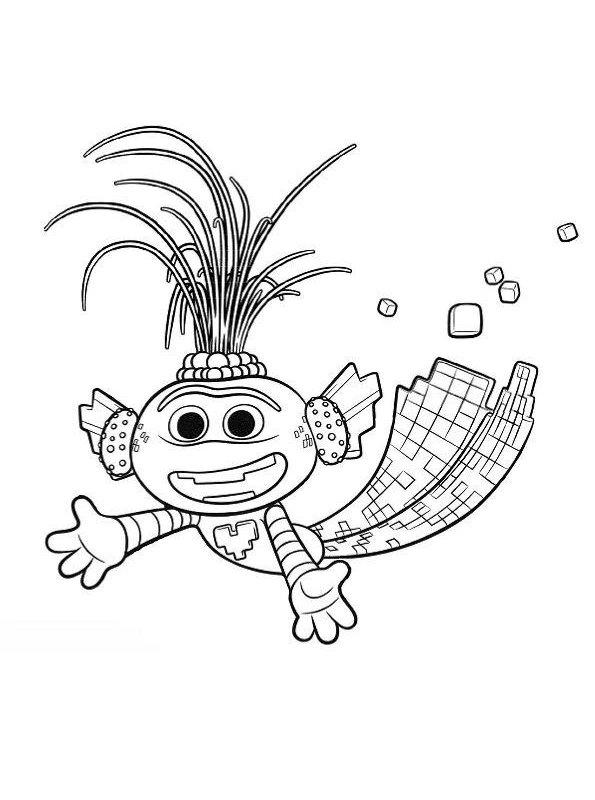 Kids-n-fun.com | Coloring page Trolls World Tour Trollex ...