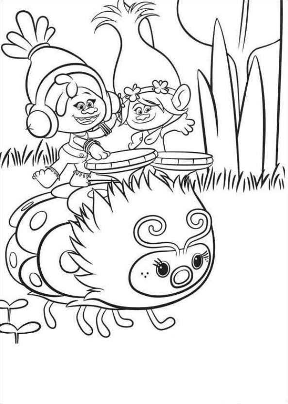 Princess Poppy Trolls Pages Coloring Pages