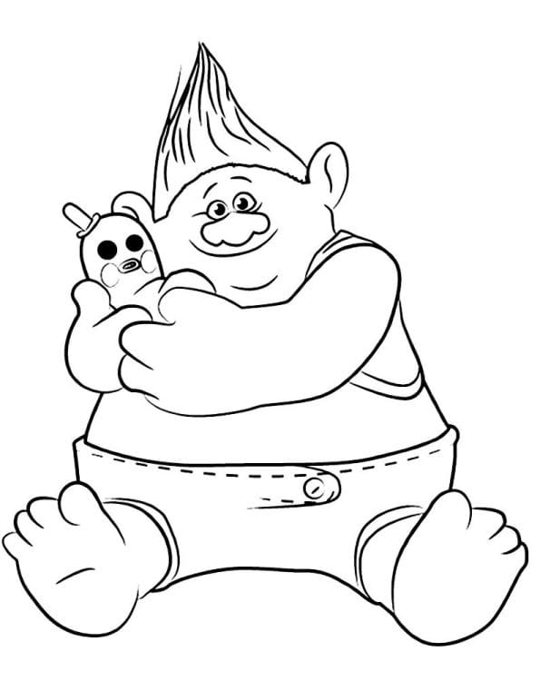 biggie - Trolls Coloring Pages