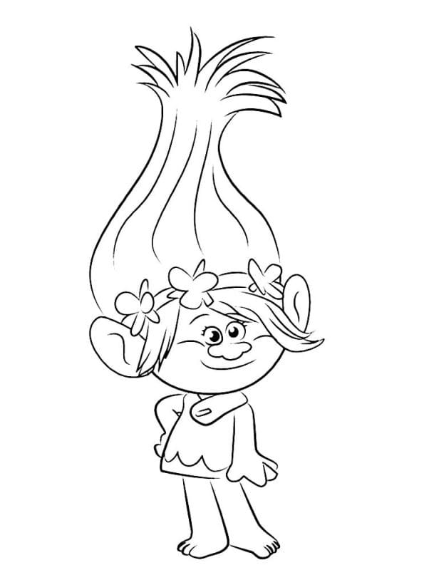 Kidsnfun 26 coloring pages of Trolls