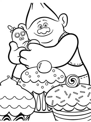Trolls Coloring Pages Branch