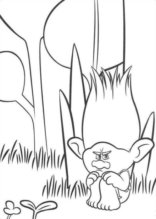 n 26 coloring pages of trolls