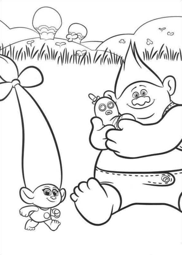 Kids-n-fun.com | 26 coloring pages of Trolls