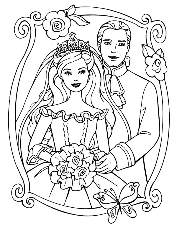 kleurplaten trouwen disney