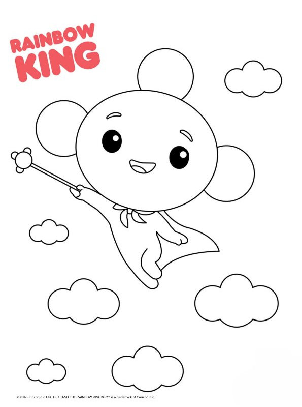 Kids N Fun Com Coloring Page True And The Rainbow