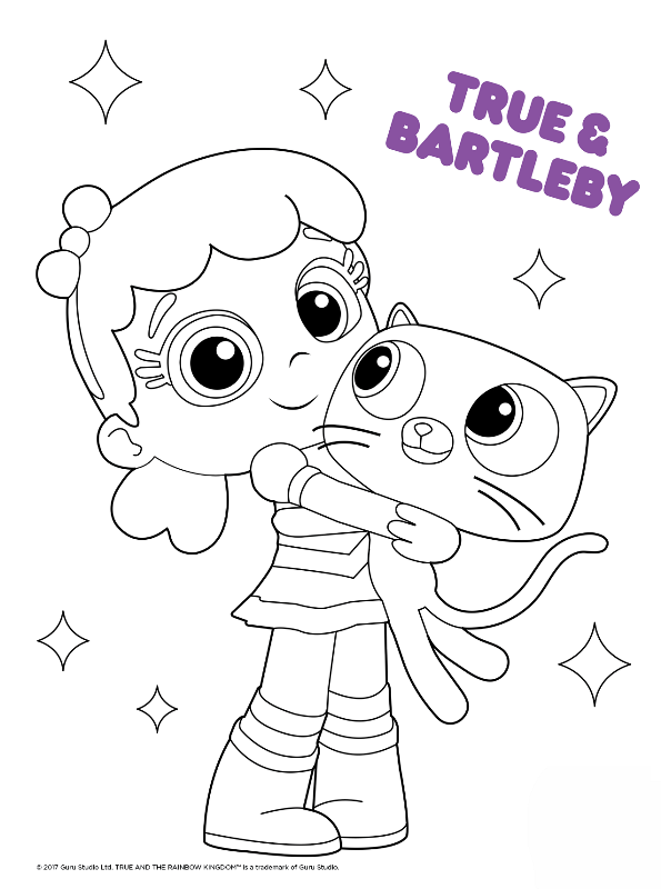 Kids-n-fun.com   Coloring page True and the Rainbow ...