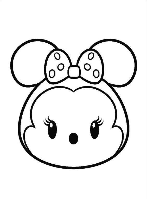 Kids-n-fun.co.uk   Coloring page Tsum tsum minnie