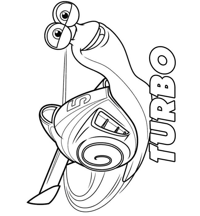 44 turbo (pixar) Coloring pages