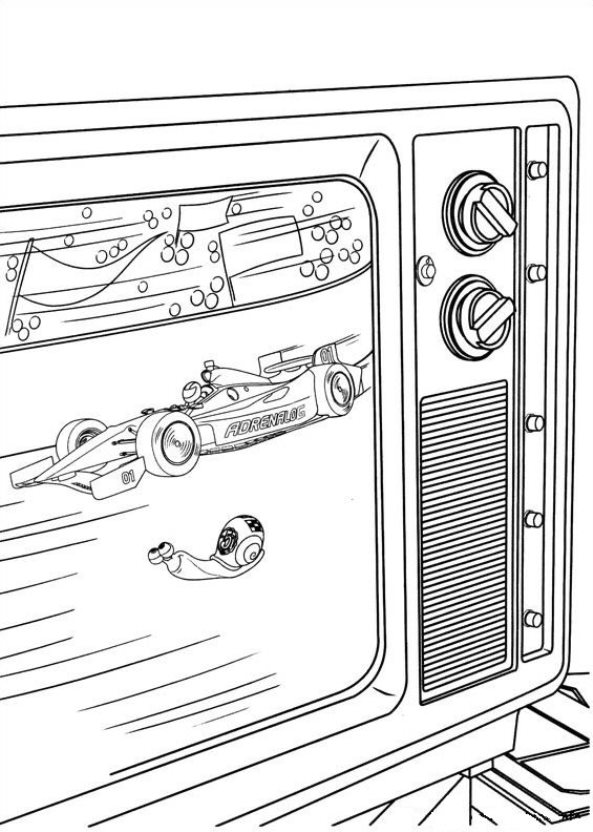 44 Turbo Pixar Coloring Pages