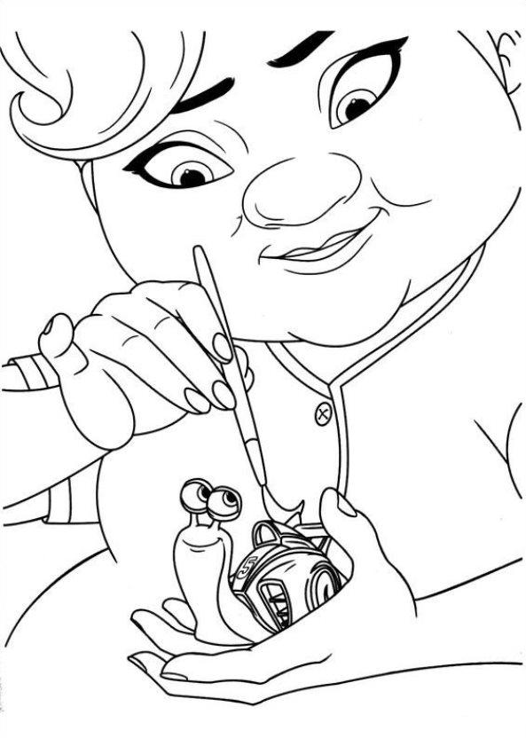 Kids N Fun Com 44 Coloring Pages Of Turbo Pixar