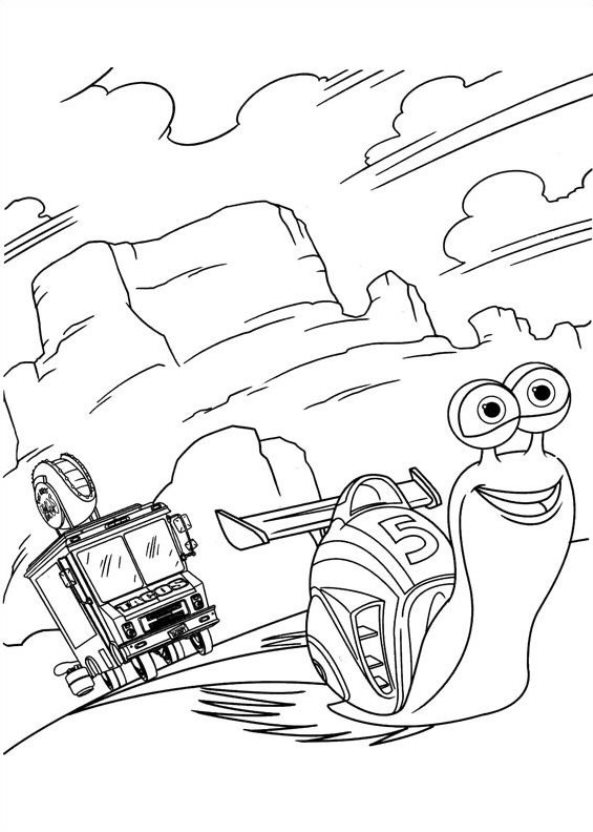 Kidsnfun 44 coloring pages of Turbo Pixar