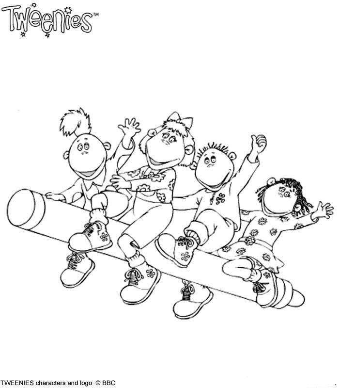 Kids N Fun Com 20 Coloring Pages Of Tweenies
