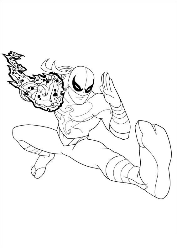 Kids n funcom 16 coloring pages of Ultimate Spider man