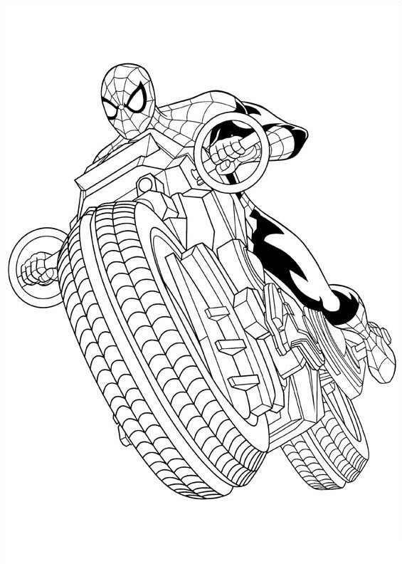 Kids-n-fun.com | 16 coloring pages of Ultimate Spider man