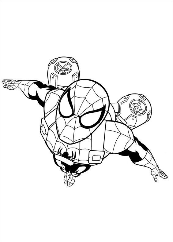 Kids n 16 coloring pages of ultimate spider man for Disegni da colorare spiderman 3