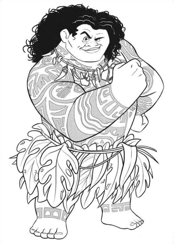 Kids-n-fun.com | 20 coloring pages of Moana