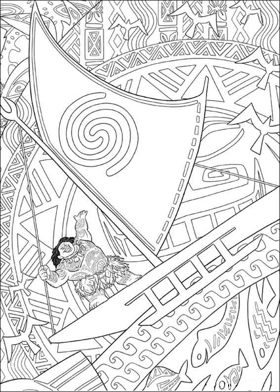 20 Moana Coloring Pages
