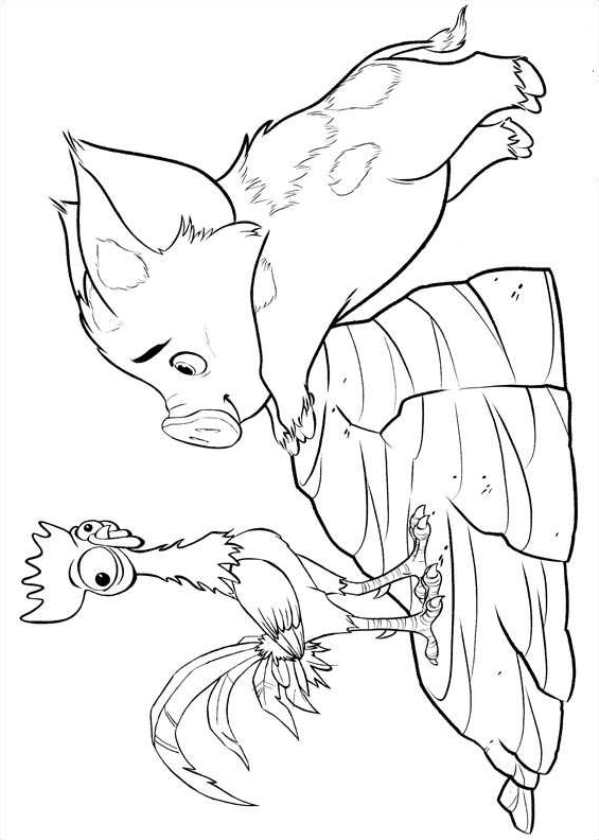 It's just a graphic of Crush Pua Coloring Page