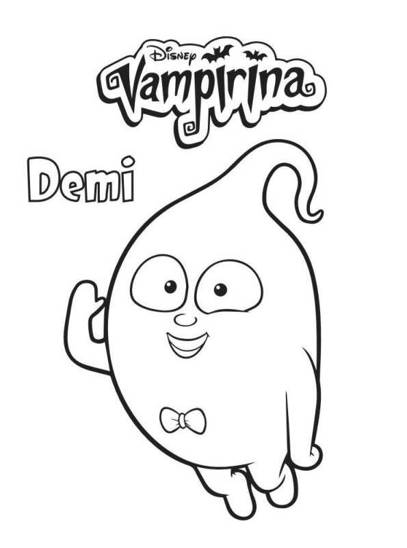 Kidsnfun 4 coloring pages of Vampirina