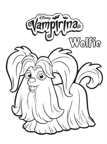 Kids N Fun Com 4 Coloring Pages Of Vampirina