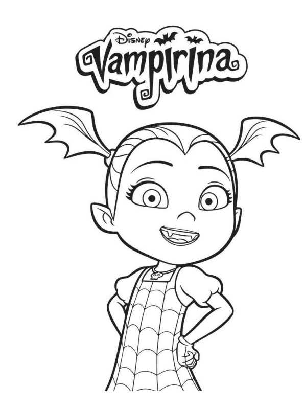 Kids-n-fun.com | 4 coloring pages of Vampirina