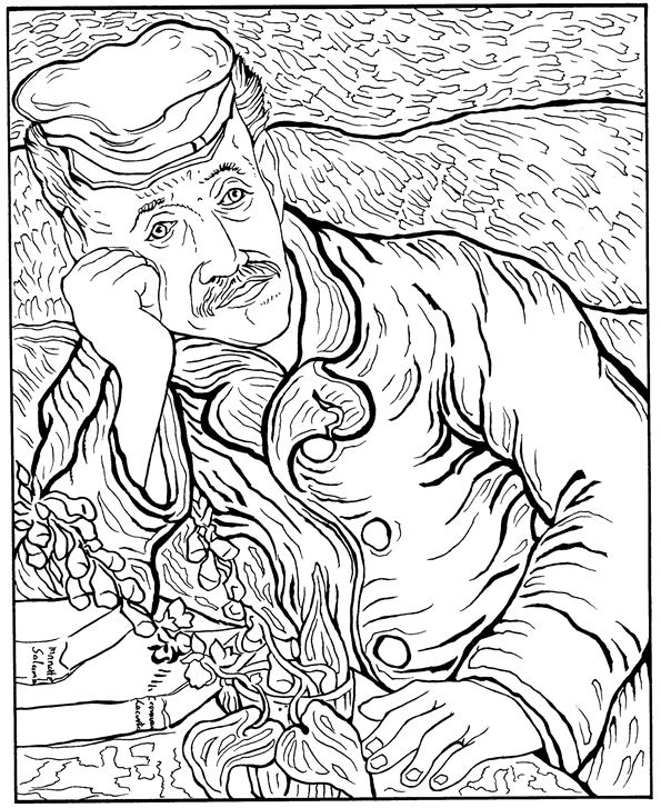 Van Gogh Coloring Pages Glamorous Kidsnfun  30 Coloring Pages Of Vincent Van Gogh