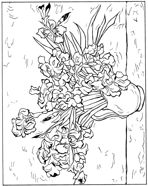 Van Gogh Coloring Pages Awesome Kidsnfun  30 Coloring Pages Of Vincent Van Gogh