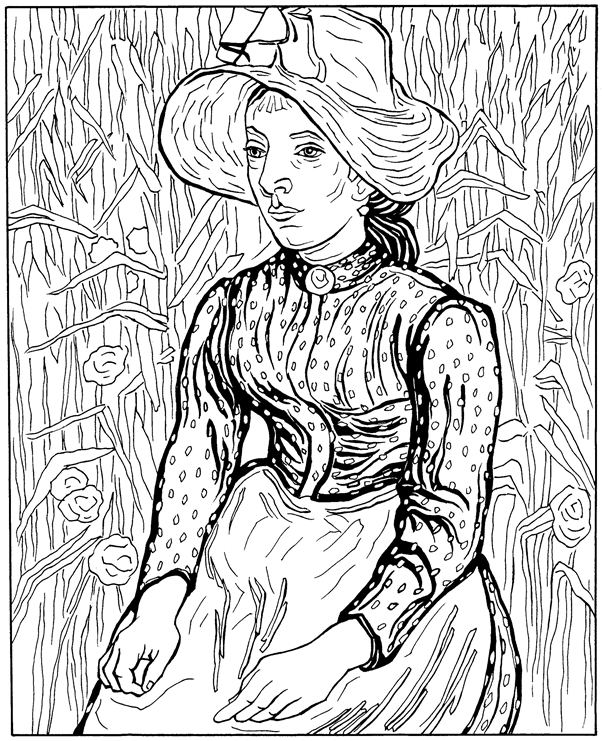 Van Gogh Coloring Pages Stunning Kidsnfun  30 Coloring Pages Of Vincent Van Gogh