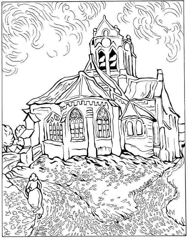 Kids n funcom 30 coloring pages of Vincent van Gogh