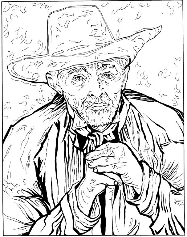 30 vincent van gogh coloring pages - Sunflower Coloring Page Van Gogh