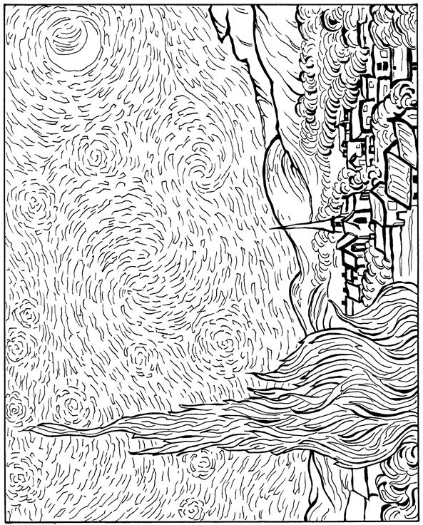 Van Gogh Coloring Pages Prepossessing Kidsnfun  30 Coloring Pages Of Vincent Van Gogh