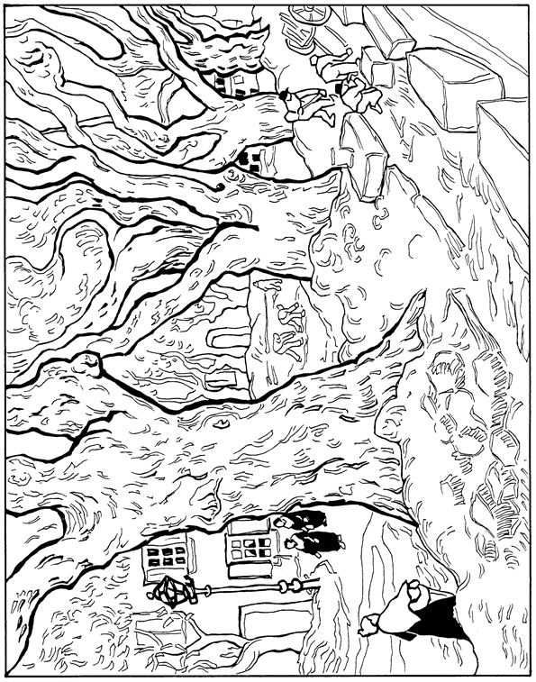 coloring pages van gough - photo#9