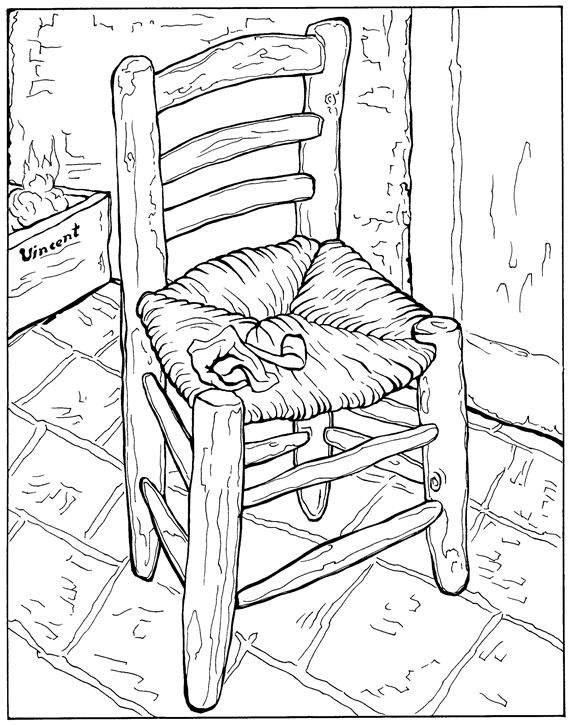 Kids n funcouk 30 coloring pages of Vincent van Gogh
