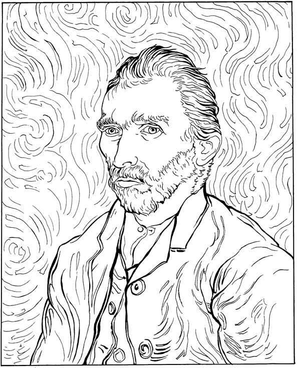 Kids-n-fun.com | 30 coloring pages of Vincent van Gogh