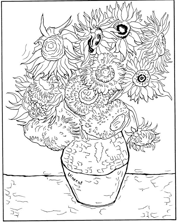 Van Gogh Coloring Pages Captivating Kidsnfun  30 Coloring Pages Of Vincent Van Gogh