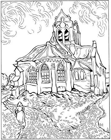 Vincent van gogh free to color for children - Vincent Van Gogh ... | 451x357