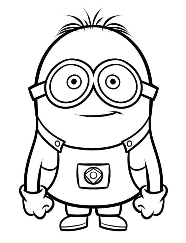 despicable me 16 coloring - Fun Colouring Sheets