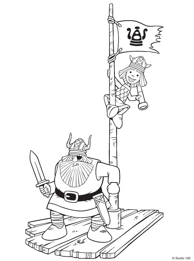 Kids-n-fun.com | 36 coloring pages of Wicky the Viking