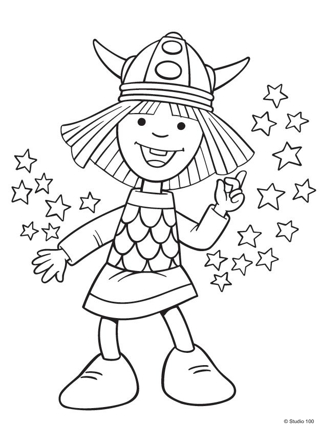 Kids N Fun Com 36 Coloring Pages Of Wicky The Viking