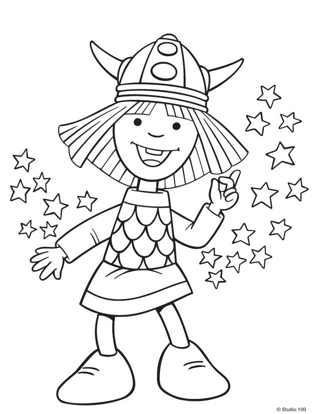 Kids n funcouk 36 coloring pages of Wicky the Viking
