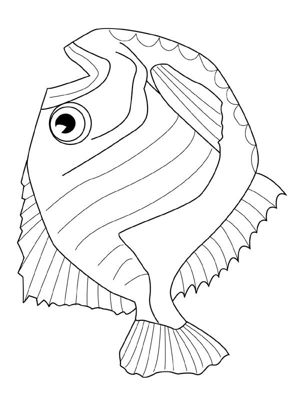 Kleurplaten Populair Kids N Fun Com Coloring Page Fish Fish