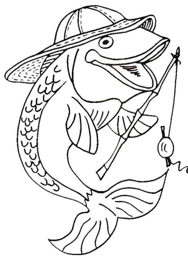Kids n 41 coloring pages of fish for Color pages of fish