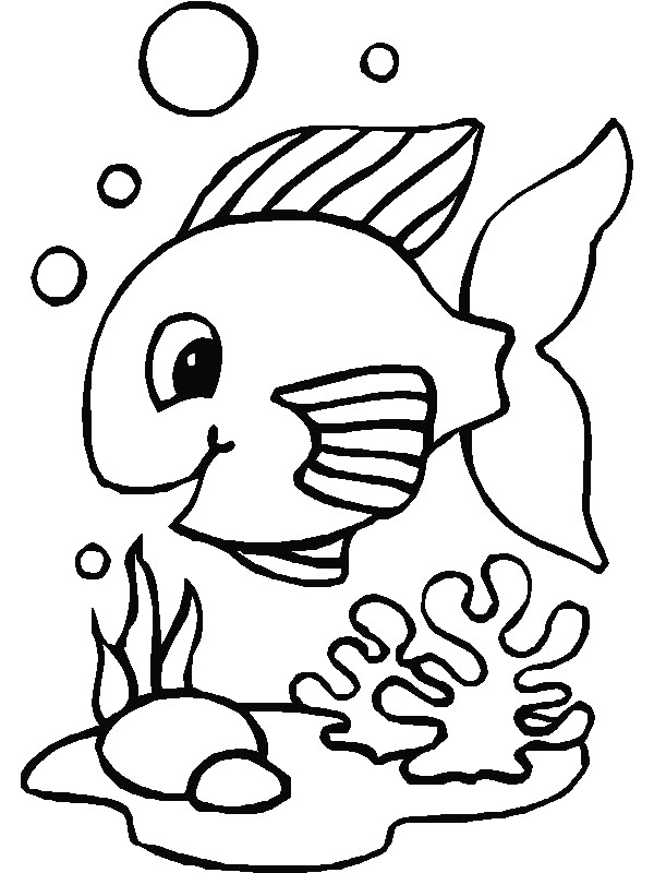 fish - Coloring Page Of Fish