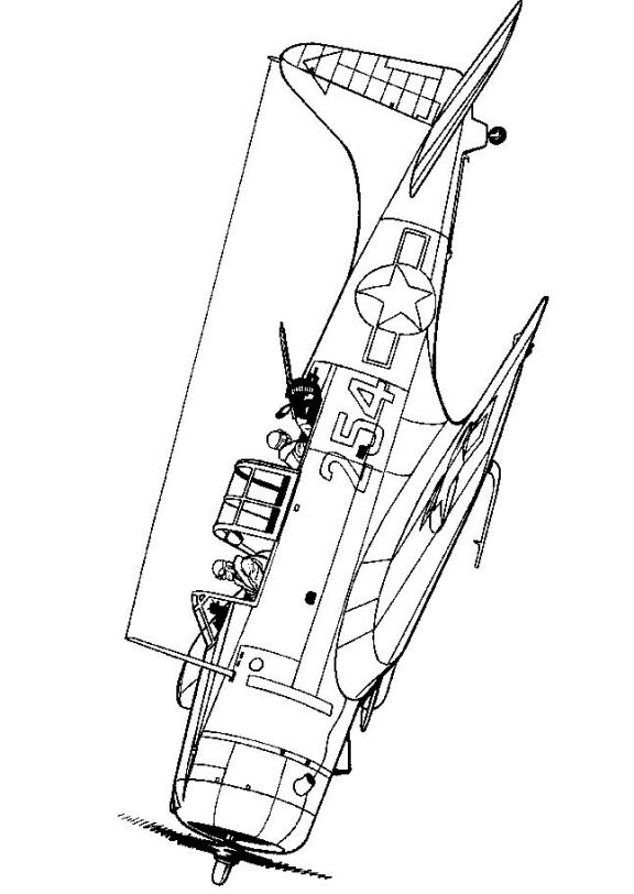 Kidsnfun 46 coloring pages of WWII Aircrafts